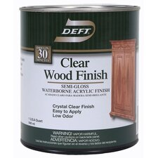 1 Quart Semi Gloss Waterborne Clear Wood Finish