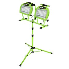 Fluorescent Twin Head Tripod Work Light