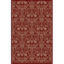 Gem Damask Red Rug