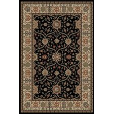 Gem Voysey Black Rug