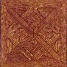 "12"" x 12"" Vinyl Tile in Wood Cross Diamond"