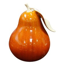 Ceramic Pear Ornament in Orange