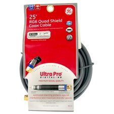 25' RG6 Quad Shield Coax Cable