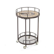 Gibraltar Mosaic Outdoor Serving Cart