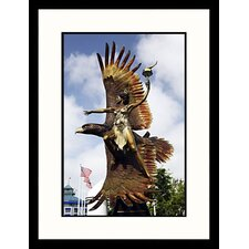 Mother of the Spirit Fire Sculpture, California Framed Photograph - Walter Bibikow