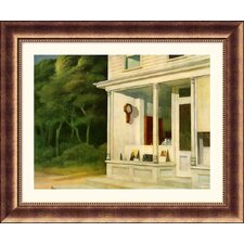 Seven A.M. Bronze Framed Print - Edward Hopper