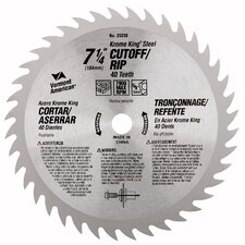"7-1/4"" 40T Krome King® Cutoff/Ripping Circular Saw Blade 25230"