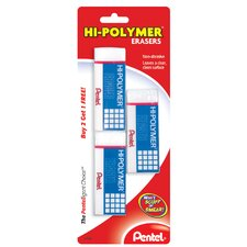 Hi-Polymer Eraser (Set of 3)