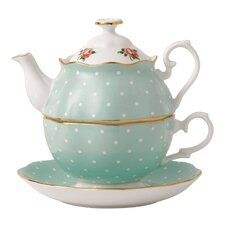 New Country Roses Polka Rose Tea for One Teapot