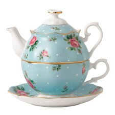 New Country Roses Polka Blue Tea for One Teapot