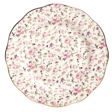 "Rose Confetti Formal Vintage 8.2"" Salad Plate"