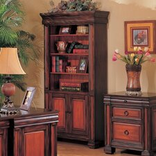 Redlands Bookcase in Brown and Warm Cherry