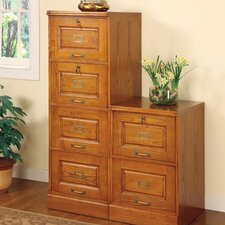 Paulina Four Drawer File Cabinet in Oak