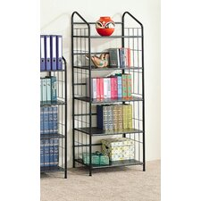 Sherwood Five Tier Bookcase in Black