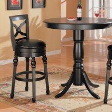 "Littleton 32"" Back Bar Chair in Black"