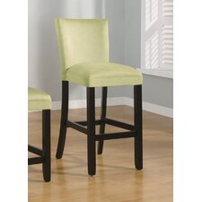 "Bullhead City 29"" Microfiber Barstool in Light Green"