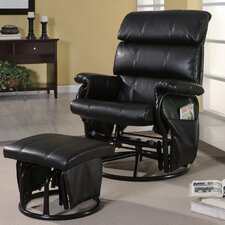 Williams Leatherette Recliner and Ottoman