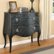 Zebra Pattern Console Table