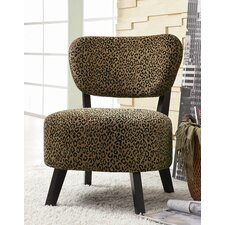 Shady Shores Leopard Print Fabric Slipper Chair