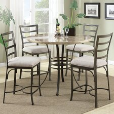 Val 5 Piece Counter Height Dining Set