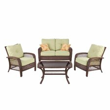 Agio Pratt 4 Piece Seating Group with Cushions