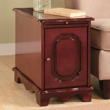 Cherry Entiat Magazine Cabinet with Pull Out Tray