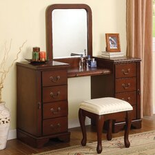 "Louis Phillipe 54"" Vanity Set with Mirror"