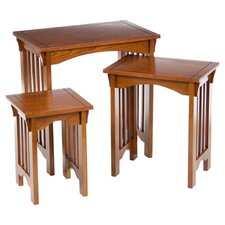 Montesano 3 Piece Nesting Table Set in Oak