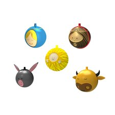 5 Piece Holiday Ornament Set