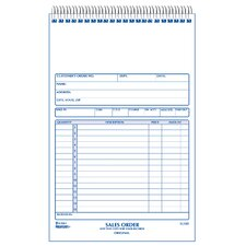 "5-1/2"" x 7-7/8"" Carbonless Triplicate Sales Book"