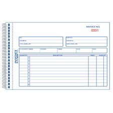 "5-1/2"" x 7-7/8"" Carbonless Duplicate Invoice Book"