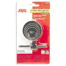 5-Piece Carbon Steel Hole Saw Set 93005