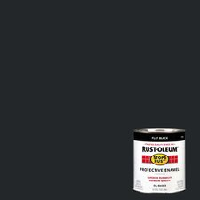 1 Quart Flat Black Protective Enamel Oil Base Paint 7776-502