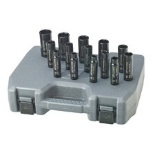"1/2"" Drive Metric Deep Axle Nut Service Socket Set"