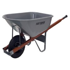 6 Cubic Foot Steel Tray Wheelbarrow