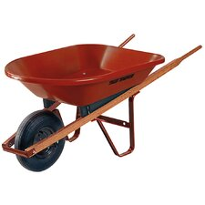 4 Cubic Foot Homeowner Poly Wheelbarrow in Red