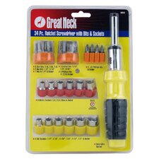 34 Piece Ratchet Screwdriver Set 92018