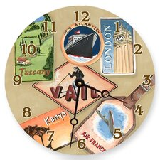 Travel and Leisure Round Clock