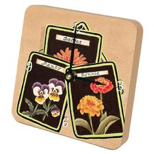 Seed Packet Gardening Tiny Times Desk Clock