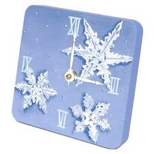 Snowflakes Tiny Times Desk Clock