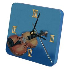 Violin Tiny Times Desk Clock