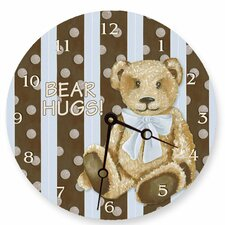 Cocoa Cabana Teddy Round Clock in Blue
