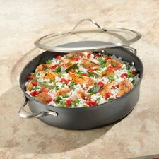 Contemporary Nonstick 7-qt. Sauteuse Pan with Lid