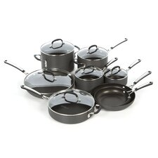 Simply Hard-Anodized Aluminum 14-Piece Cookware Set