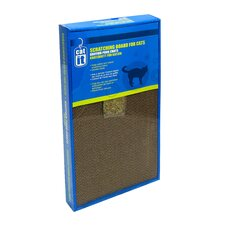 Catit Wide Cardboard Scratching Board with Catnip
