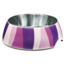 Dogit Style Dog Bowl in Purple Zebra