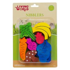 LW Nibblers Wood Fruit/Veggie Mix Small Pet Chew Toy