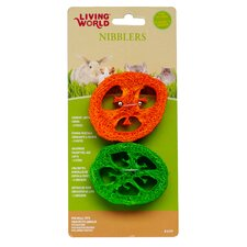 LW Nibblers Loofah Slice Small Pet Chew Toy