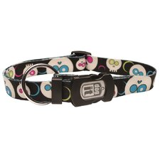 Dogit Style Da Face Adjustable Nylon Dog Collar and ID Plate