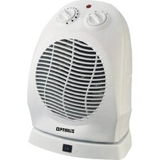 1,500 Watt Fan Forced Compact Portable Oscillating Space Heater with Thermostat